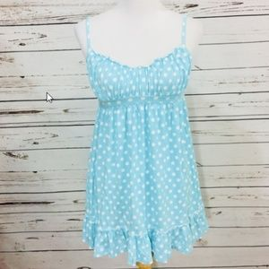 VICTORIA'S SECRET Angels blue polka dot nightgown
